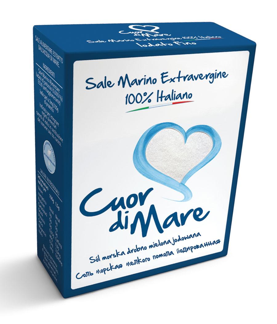 Cuor di Mare cоль морская пищевая йодированная мелкого помола, 1 кгMS266252121Cuor di Mare является первой 100% итальянской солью первой очистки. Ее частицы кропотливо отобраны и подвергнуты нескольким этапам обработки. В результате получается уникальная, высоко растворимая соль с интенсивным, но нежным вкусом.