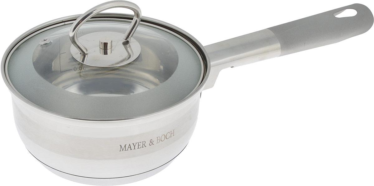 Сотейник Mayer & Boch с крышкой, 1 л25402Сотейник Mayer & Boch изготовлен из высококачественной нержавеющей стали. Комбинация зеркальной и матовой полировки придает посуде безупречный внешний вид. Гладкая, идеально ровная поверхность легко очищается. Сотейник предназначен для здорового и экологического приготовления пищи. Удобная ручка имеет матовое покрытие и отверстие для подвешивания на крючок. Внутренние стенки имеют отметки литража. Крышка выполнена из термостойкого стекла, снабжена металлическим ободом и отверстием для выпуска пара. Сотейник можно использовать на всех типах плит, включая индукционные. Можно мыть в посудомоечной посуде. Диаметр (по верхнему краю): 14 см. Высота стенки: 7,5 см. Длина ручки: 15 см. УВАЖАЕМЫЕ КЛИЕНТЫ!Обращаем ваше внимание на тот факт, что объем указан максимальный, с учетом полного наполнения до кромки. Шкала на внутренней стенке изделия имеет меньший литраж.