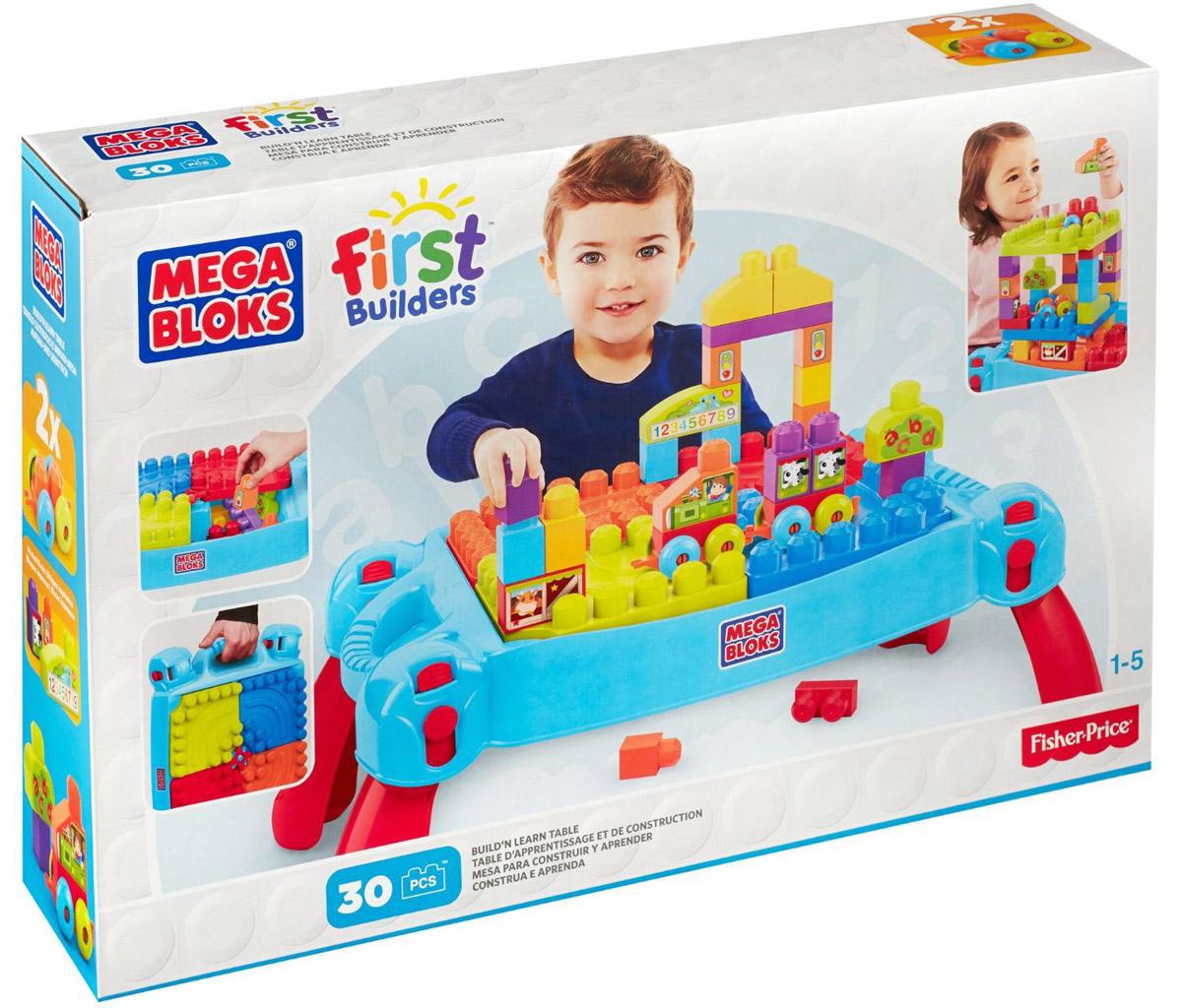 Mega Bloks First Builders Конструктор Строим и учимся mega bloks first builders конструктор банка для печенья