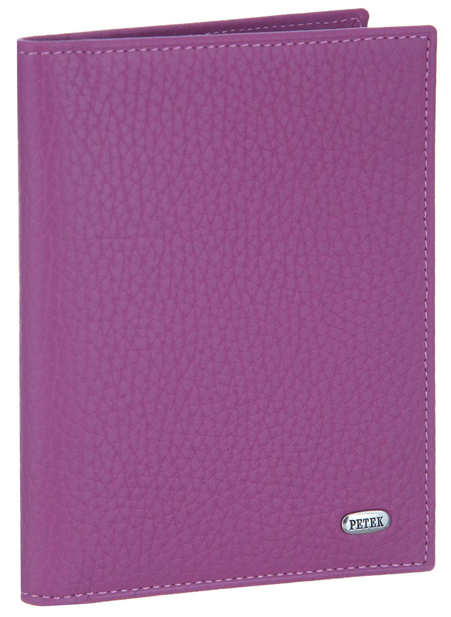 Обложка для автодокументов женская Petek 1855, цвет: пурпурный. 584.46D.16Натуральная кожаЖенская обложка для автодокументов Petek 1855 выполнена из высококачественной натуральной кожи с фактурным тиснением. На внутреннем развороте - съемный блок из шести прозрачных файлов из мягкого пластика, один из которых формата А5, два боковых кармана, один из которых сетчатый, и четыре прорезных кармашка для визиток и пластиковых карт.Обложка не только поможет сохранить внешний вид ваших документов и защитит их от повреждений, но и станет стильным аксессуаром, который подчеркнет ваш неповторимый стиль.