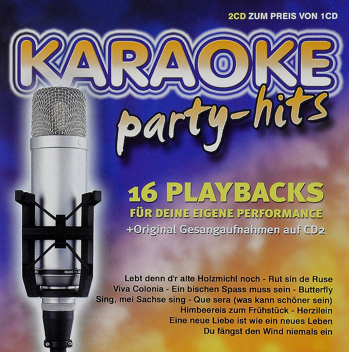 Karaoke Party-Hits (2 CD) массимо фарао piano world hits 2 cd