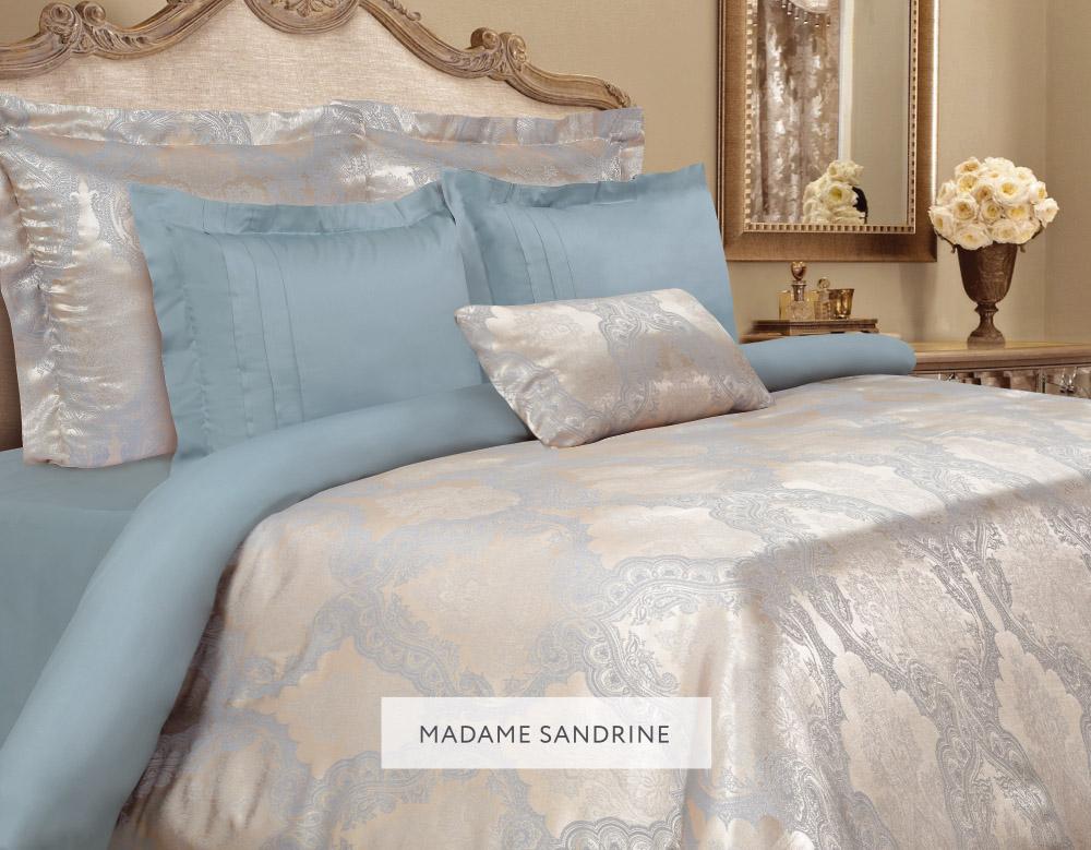 Комплект белья Mona Liza Madam Sandrine, 2-спальное, наволочки 50х70 и 70x705538/14Комплект постельного белья Mona Liza Madam Sandrine выполнен из комбинации сатина и натуральной вискозы. Данный состав придает ткани шелковистость, прочность и гидроскопичность, по своим качествам, в том числе визуальным, не уступает шелку. Комплект состоит из пододеяльника, простыни и четырех наволочек. Изделия оформлены благородным орнаментом. Пододеяльник на пуговицах.Элегантный стиль, несравненное качество, изысканный рельефный рисунок и приятные оттенки придают постельному белью богатый и утонченный вид.