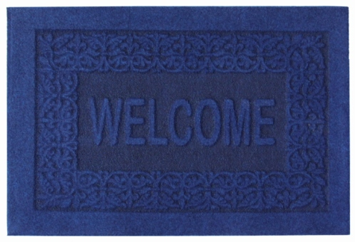 Коврик придверный EFCO Оскар, цвет: синий, 40 х 60 см18532/синийОригинальный придверный коврик EFCO Оскар надежно защитит помещение от уличной пыли и грязи. Изделие выполнено из 100% полипропилена, основа - латекс. Такой коврик сохранит привлекательный внешний вид на долгое время, а благодаря латексной основе, он легко чистится и моется.
