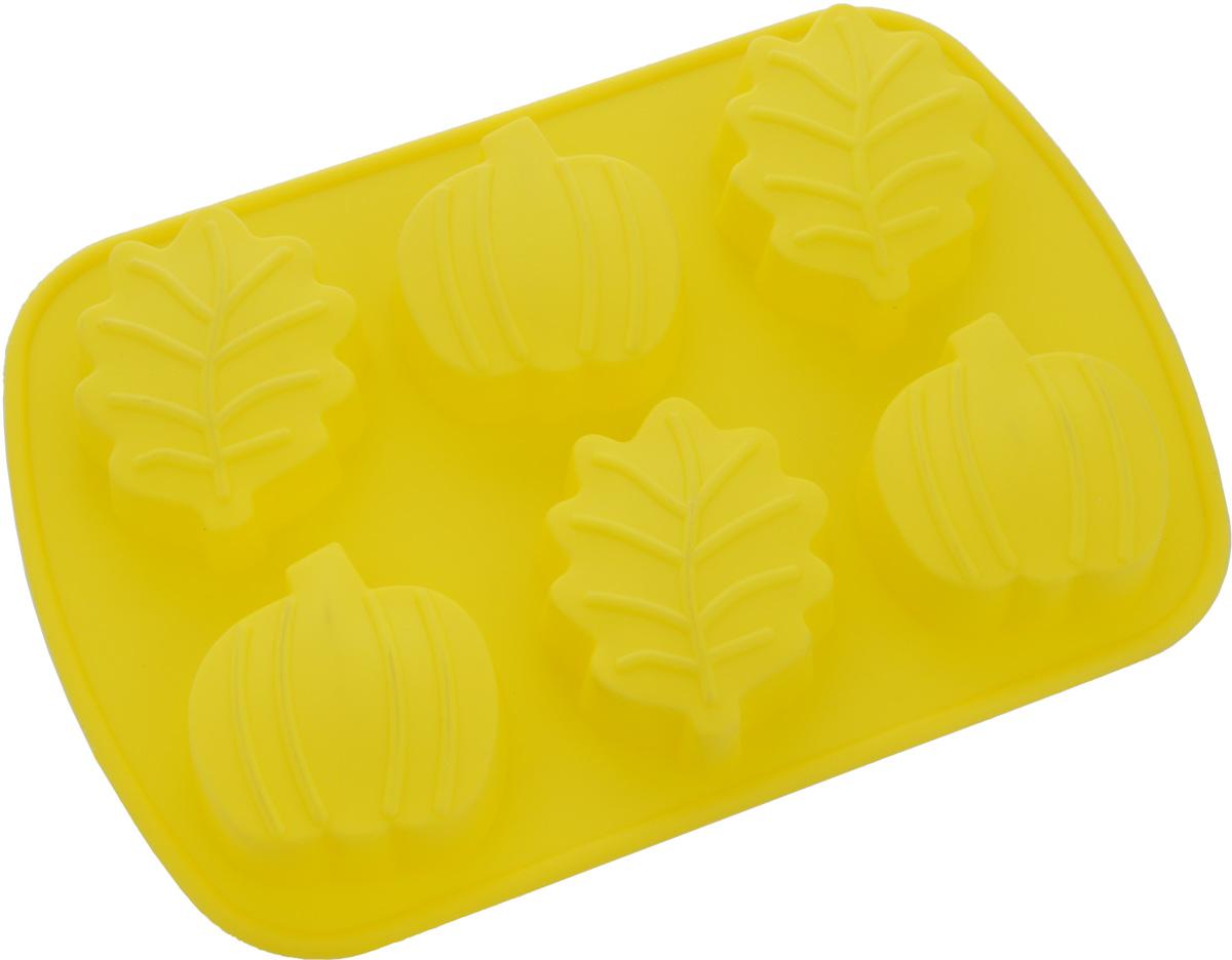 Форма для выпечки Mayer & Boch, силиконовая, цвет: желтый, 6 ячеек. 2003920039Форма Mayer & Boch, выполненная из силикона, будет отличным выбором для всех любителей домашней выпечки. Форма имеет 6 ячеек в виде лепестков. Силиконовые формы для выпечки имеют множество преимуществ по сравнению с традиционными металлическими формами и противнями. Нет необходимости смазывать форму маслом. Форма быстро нагревается, равномерно пропекает, не допускает подгорания выпечки с краев или снизу. Вынимать продукты из формы очень легко. Слегка выверните края формы или оттяните в сторону, и ваша выпечка легко выскользнет из формы. Материал устойчив к фруктовым кислотам, не ржавеет, на нем не образуются пятна. Форма может быть использована в духовках и микроволновых печах (выдерживает температуру от -40°С до +230°С), также ее можно помещать в морозильную камеру и холодильник. Можно мыть в посудомоечной машине. Размер ячеек: 7,5 х 6,2 х 2 см; 6,5 х 6,2 х 2 см.. Как выбрать форму для выпечки – статья на OZON Гид.