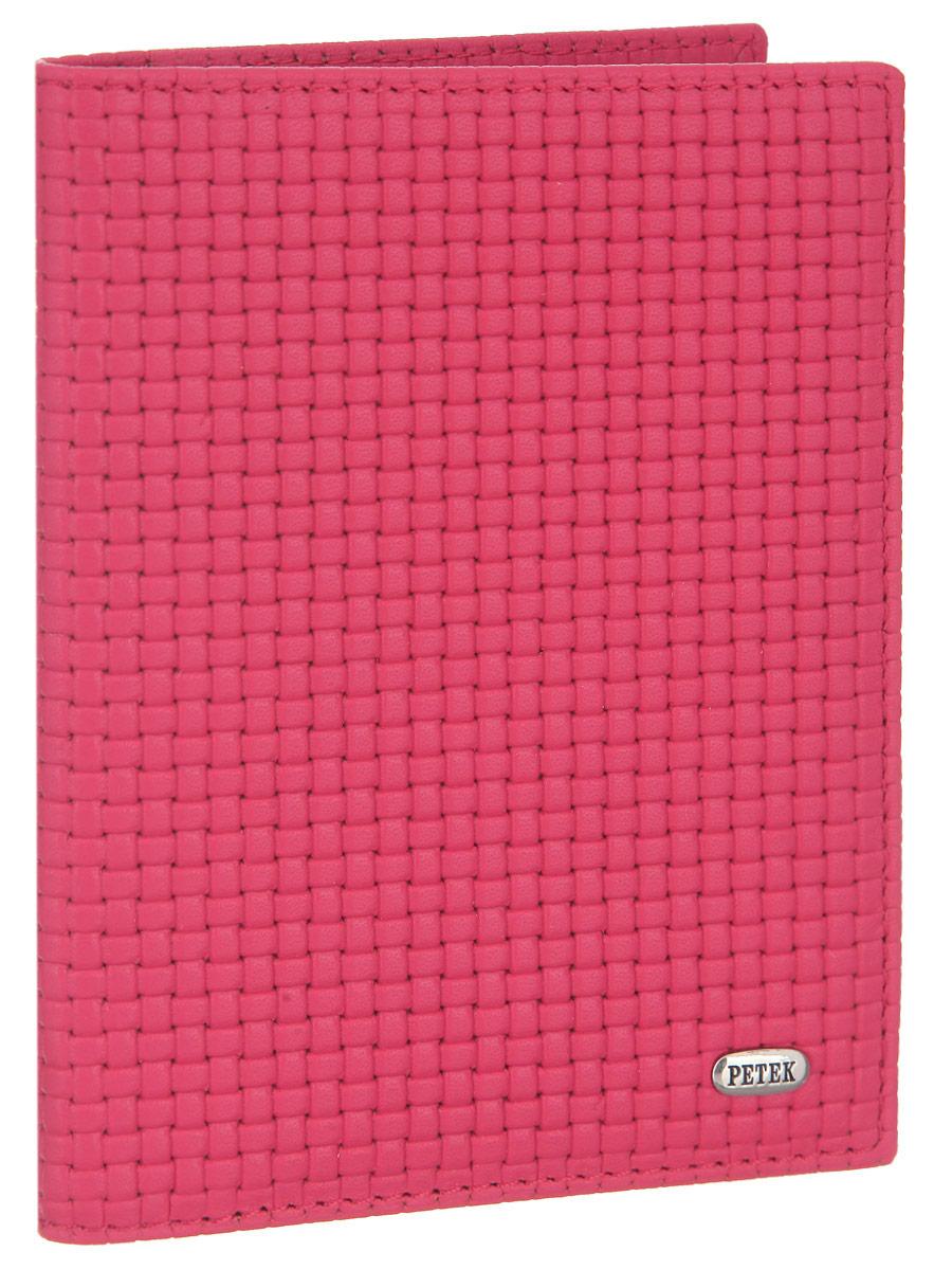 Обложка для паспорта Petek 1855, цвет: розовый. 581.020.94 стоимость