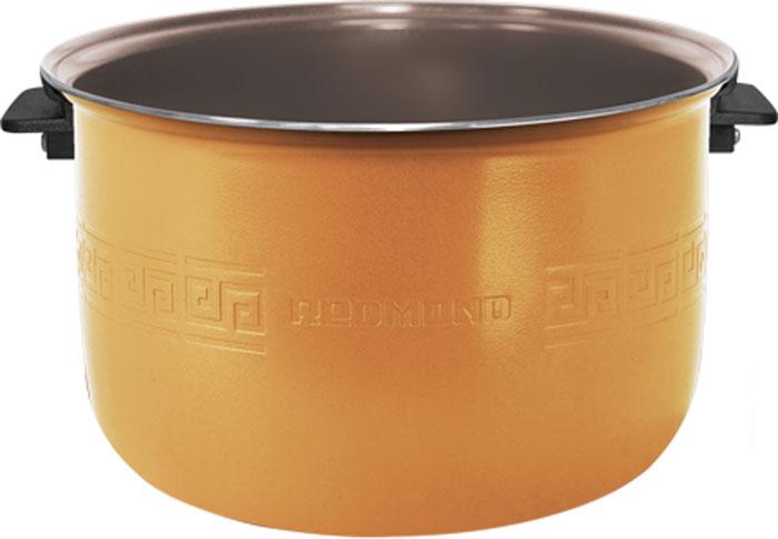 Redmond RB-C515 F чаша для мультиваркиRB-C515 FЧаша с керамическим покрытием для мультиварок c функцией MasterFry REDMOND RB-C515F – новейшийэкологичный кухонный аксессуар, отличающийся специально разработанным износостойким и сверхнадёжнымантипригарным материалом чаши – керамикой Ceralon (Швейцария), обладающим выдающимися теплопроводнымихарактеристиками.Чаша C515F выделяется ещё одним заметным преимуществом в виде лёгких жаропрочных ручек, абсолютноисключающих любую возможность обжечься. Ручки из высокотехнологичного и безопасного пластикагарантируют комфортное и быстрое извлечение ёмкости из мультиварки. К очевидным плюсам относятся большойобъём (5 л) и внутренняя мерная шкала. Чаша применима для трёх моделей мультиварок с функцией подъёмногонагревательного элемента (ТЭНа): FM91, FM230, CBF390S.C515F открывает возможности для безупречной жарки, варки и тушения всевозможных изысков почти безвысококалорийного масла, тем самым обеспечивая полноту натурального вкуса и максимальную пользу блюд.Современное покрытие чаши защитит от пригорания и подарит равномерное, совершенное приготовление еды.Ёмкость можно также успешно использовать для воплощения кулинарных идей в духовом шкафу и повседневногохранения продуктов. Вы сможете легко помыть чашу под краном или в посудомоечной машине!