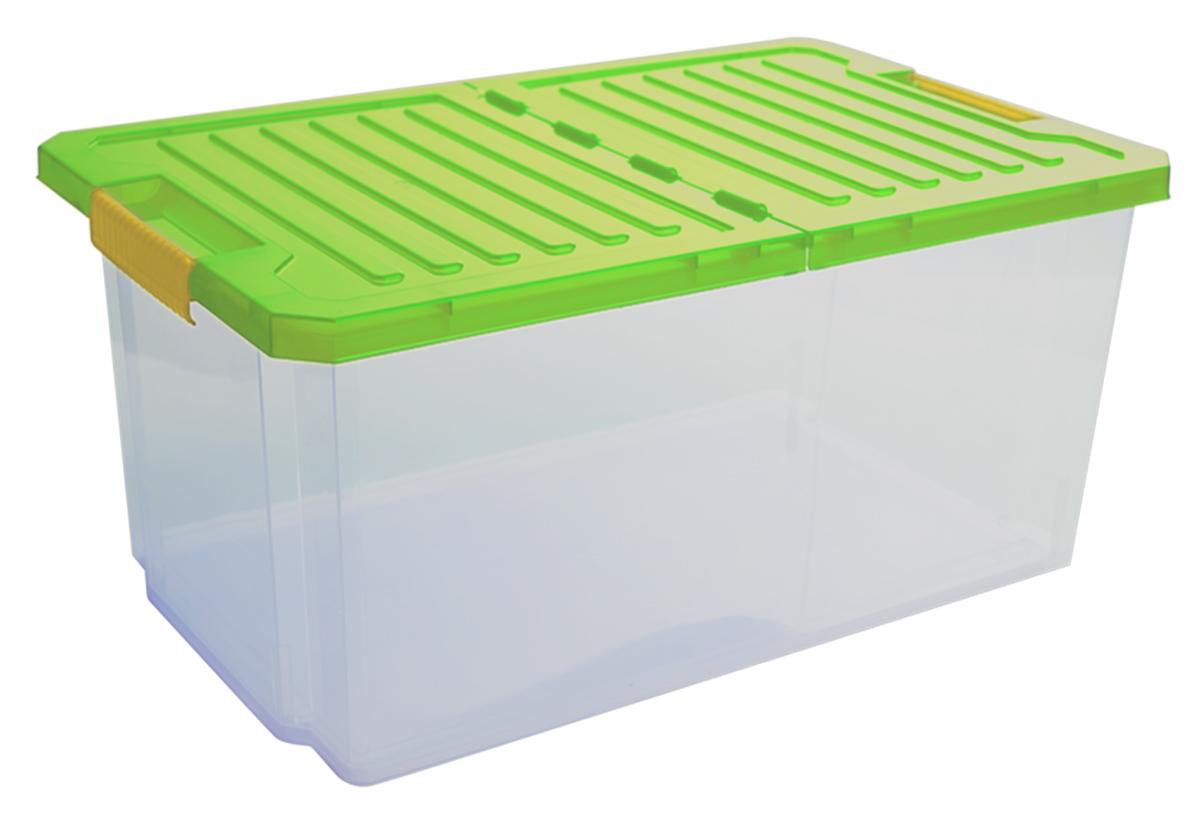 """Универсальный ящик для хранения BranQ """"Unibox"""", выполненный из прочного пластика, поможет правильно организовать пространство в доме и сэкономить место. В нем можно хранить все, что угодно: одежду, обувь, детские игрушки и многое другое. Прочный каркас ящика позволит хранить как легкие вещи, так и переносить собранный урожай овощей или фруктов. Изделие оснащено складной крышкой, которая защитит вещи от пыли, грязи и влаги. Эргономичные ручки-защелки позволяют переносить ящик как с крышкой, так и без нее."""