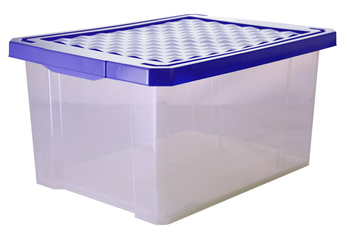 Ящик для хранения BranQ Optima, цвет: синий, прозрачный, 17 л где купить дешевые детские вещи