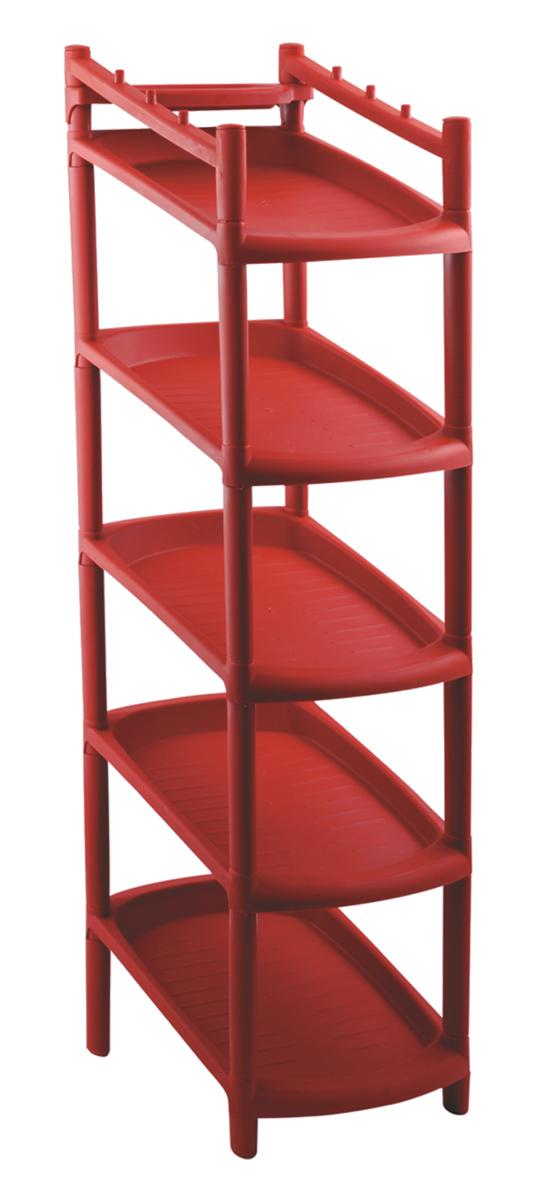 Этажерка для обуви BranQ, 5-ярусная, цвет: терракотовый, 48 х 25,5 х 24 смBQ2800ТРЭтажерка BranQ с 5 полками выполнена из высококачественного пластика и предназначена для хранения обуви в прихожей. Очень удобная и компактная, но в тоже время вместительная, этажерка прекрасно впишется в пространство вашей прихожей. Легко собирается и разбирается.