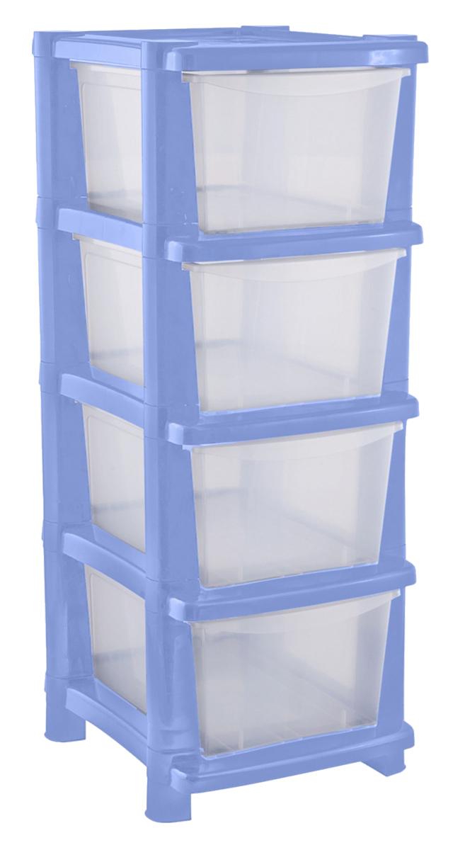 """Комод BranQ """"Deco"""" изготовлен из высококачественного пластика. Комод предназначен для хранения различных вещей и состоит из четырех вместительных выдвижных секций. Такой комод надежно защитит вещи от загрязнений, пыли и моли, а также позволит вам хранить их компактно и с удобством. Стильный дизайн комода дополнит интерьер комнаты.Размер ящика: 40 х 26,7 х 16,9 см."""