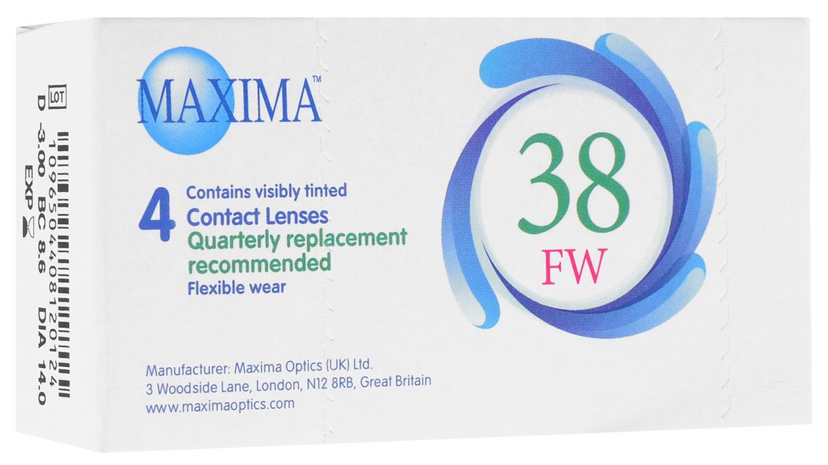 Maxima контактные линзы 38 FW (4 шт / 8.6 / -3.00), Maxima Optics