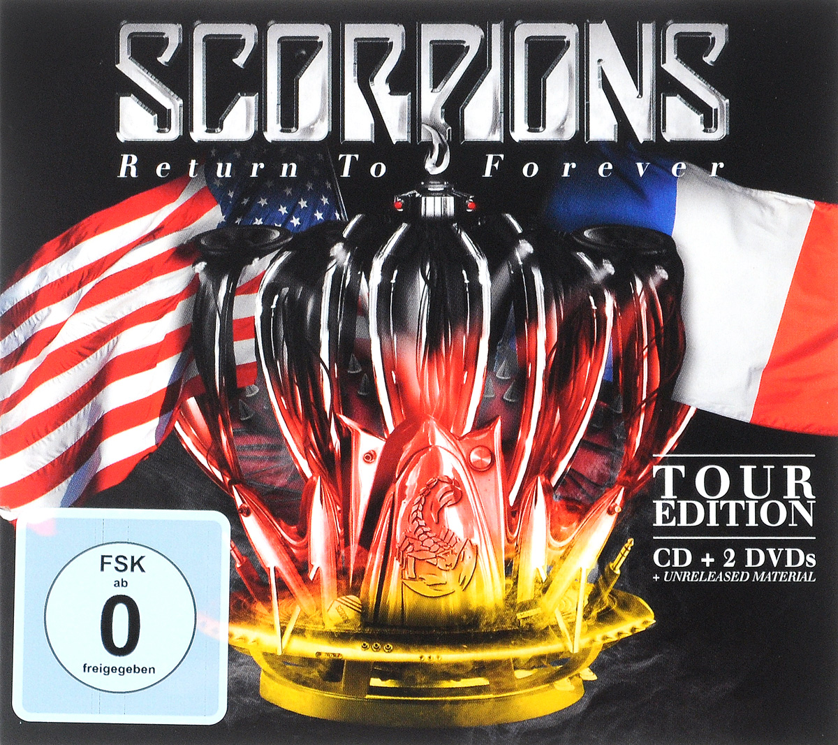 Scorpions Scorpions. Return To Forever. Tour Edition (CD + 2 DVD) cd scorpions taken by force 50th anniversary deluxe edition