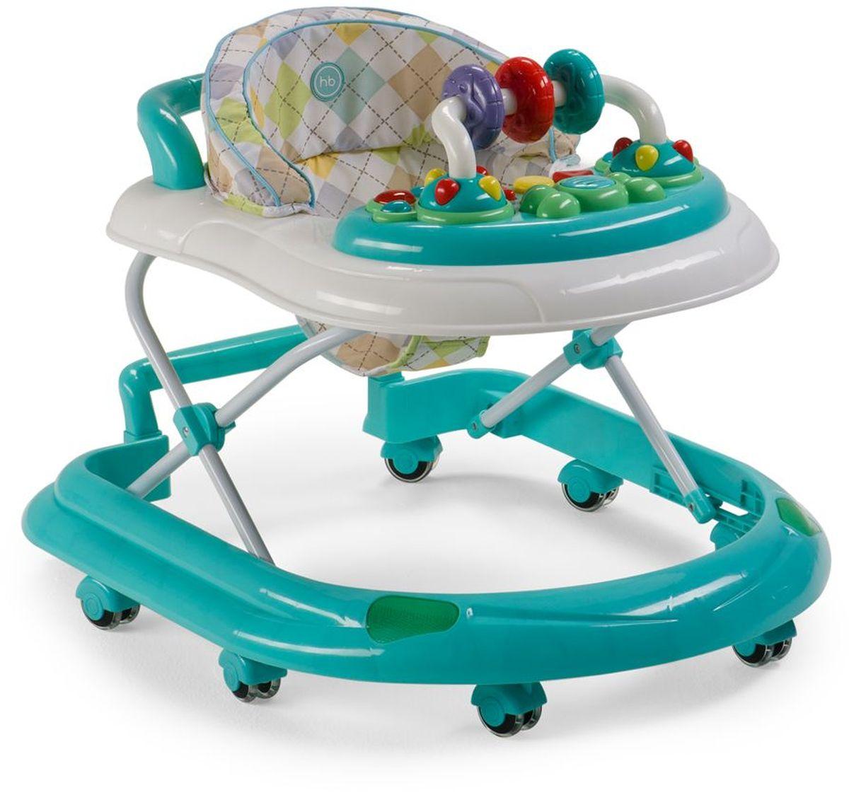 Happy Baby Ходунки Smiley V2 цвет голубой - Ходунки, прыгунки, качалки