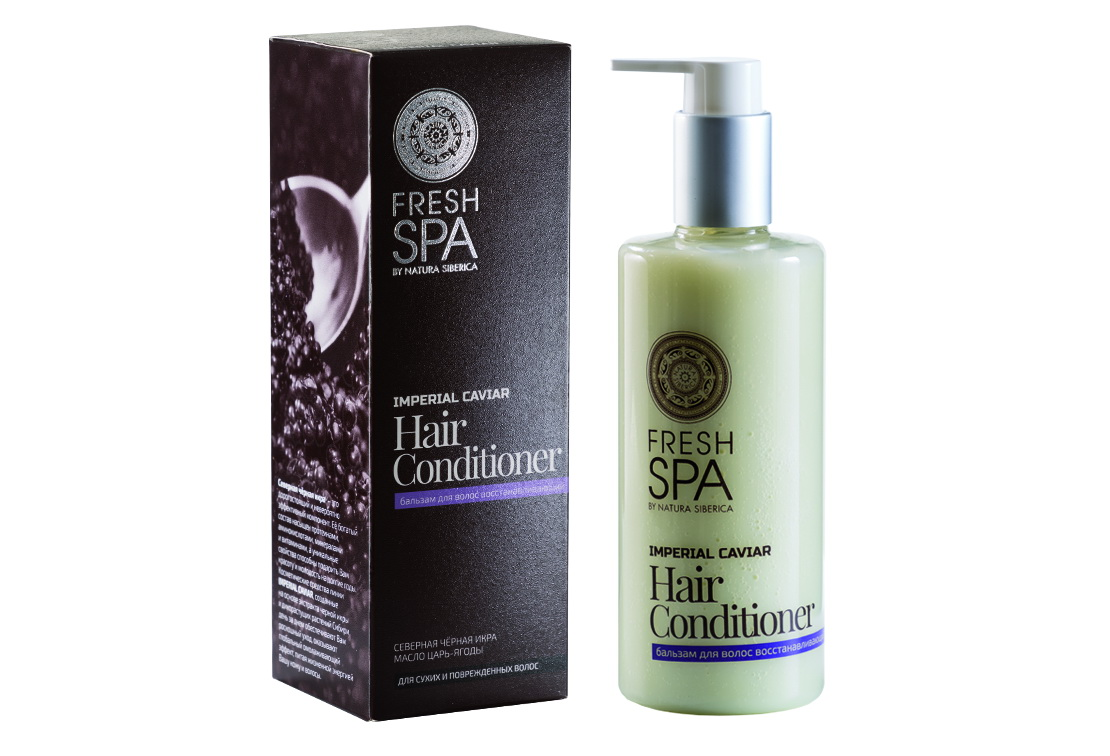 Fresh Spa Бальзам восстанавливающий Imperial Caviar, 300 мл086-01-33748Роскошный восстанавливающий бальзам – это полноценный, изысканный уход за Вашими волосами. Интенсивно питает и укрепляет волосы по всей длине. Восстанавливает поврежденные участки, придавая волосам естественную эластичность, упругость и неповторимый блеск. Натуральный экстракт северной черной икры — богатейший источник омега-3, жирных кислот, белков, витаминов А, В, С, D, Е, йода, лецитина, минеральных и других полезных элементов, которые способствуют активному обновлению клеток. Разглаживает волосы, обладает мгновенным восстанавливающим и омолаживающим свойствами. Органическое масло царь-ягоды — неиссякаемый, полноценный источник множества витаминов и микроэлементов, которые прекрасно увлажняют, интенсивно питают, укрепляют волосы по всей длине. Восстанавливает поврежденные участки, придавая волосам естественную эластичность, упругость и неповторимый блеск.Эффект: Структура волос восстанавливается; волосы невероятно гладкие и шелковистые, наполненные здоровым блеском; защита от термального воздействия; легкое расчёсывание.