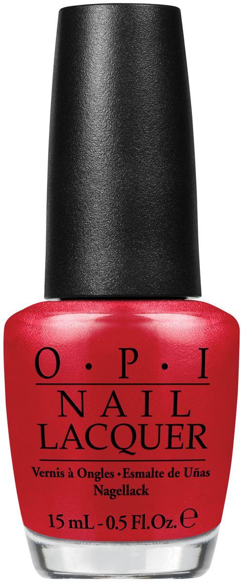 OPI Лак для ногтей Red Hot Rio, 15 млNLA70Лак для ногтей OPI быстросохнущий, содержит натуральный шелк и аминокислоты. Увлажняет и ухаживает за ногтями. Форма флакона, колпачка и кисти специально разработаны для удобного использования и запатентованы.