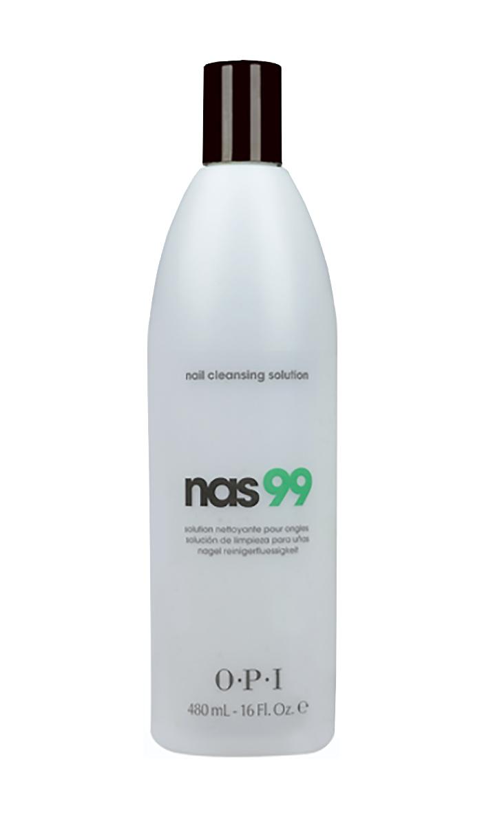 OPI Дезинфицирющая жидкость для ногтей Nas-99, 480 млSD306Очищающее средство для ногтей с антисептическим эффектом НАС-99 OPI. Обязательно использовать для дезинфекции и обезжиривания ногтей, инструментов в процедурах маникюра и педикюра и моделирования искусственных ногтей. Содержит Тимол, предотвращающий развитие грибка ногтей и бактерий. Не содержит воды и удаляет излишки влаги и масла с поверхности ногтевой пластины.