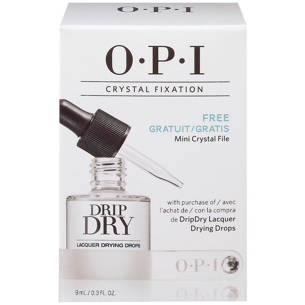 OPI Набор Crystal Fixation, AL714 15 мл + кристальная пилка opi лосьон двойная защита для ног feet by opi double coverage lotion 177 мл opi