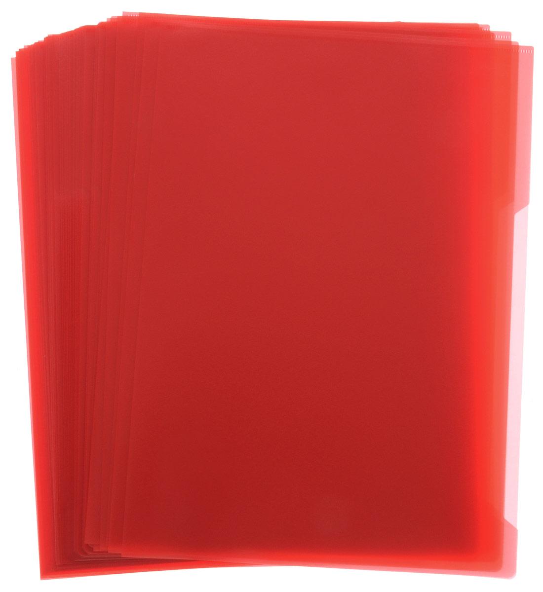 Durable Папка-уголок цвет красный 50 шт2312-03Папка-уголок Durable изготовлена из высококачественного полипропилена. Это удобный и практичный офисный инструмент, предназначенный для хранения и транспортировки рабочих бумаг и документов формата А4. Папка оснащена выемкой для перелистывания листов. В наборе - 50 папок.Папка-уголок - это незаменимый атрибут для студента, школьника, офисного работника. Такая папка надежно сохранит ваши документы и сбережет их от повреждений, пыли и влаги.