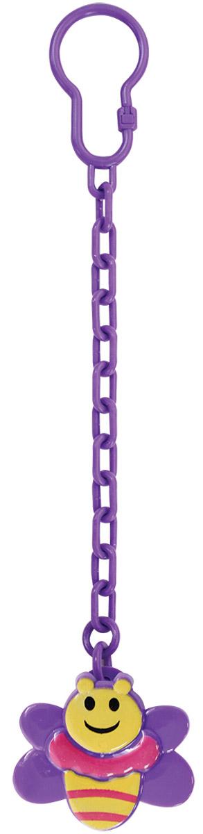 Lubby Клипса-держатель для пустышки Пчелка цвет фиолетовый lubby клипса для соски пустышки пчелка от 0 мес lubby фиолетовый