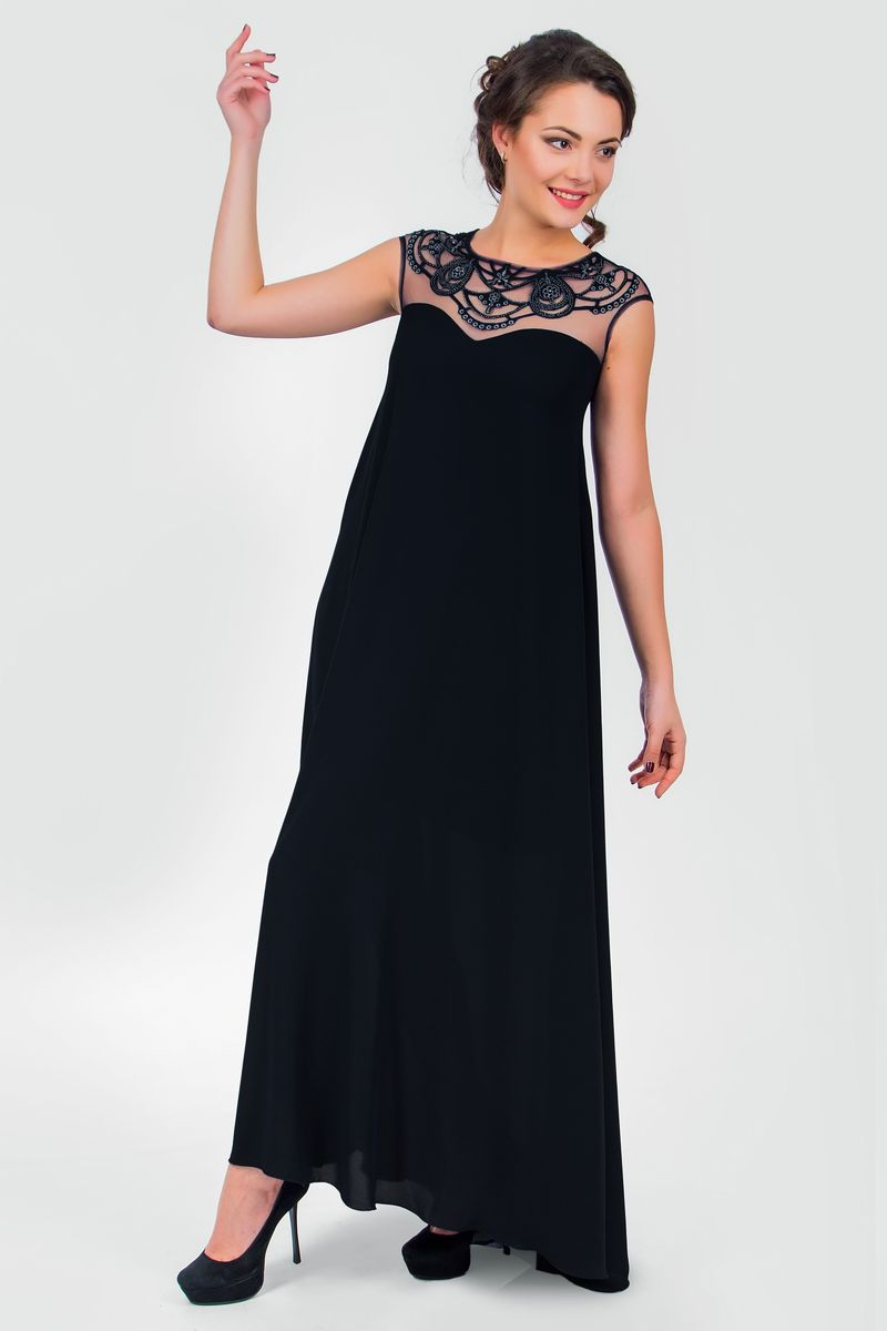 Платье Seam, цвет: черный. 4390_901. Размер XS (42)