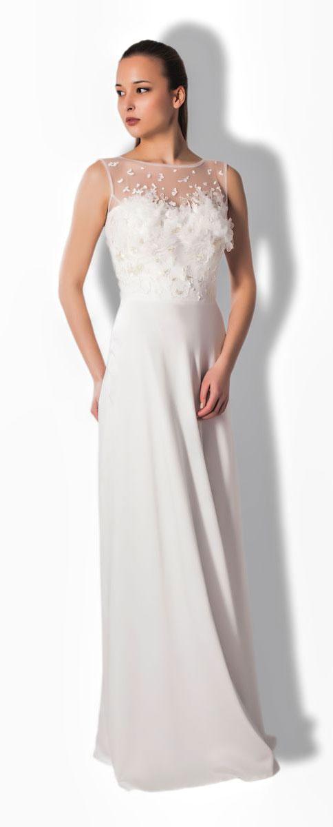 Платье Seam, цвет: молочный. 4900_102. Размер S (44)4900_102Очаровательное вечернее платье Seam, выполненное из высококачественного полиэстера с добавлением спандекса, оно отлично сидит по фигуре и подчеркнет ваши достоинства.Платье-макси без рукавов не имеет застежек и по спинке открытое. Верх модели выполнен из сетчатой ткани украшен вышитой аппликацией с бисером. Изделие дополнено пышной накладной юбкой, которая присоединяется к к платью с помощью пояса на застежках-пуговицах.