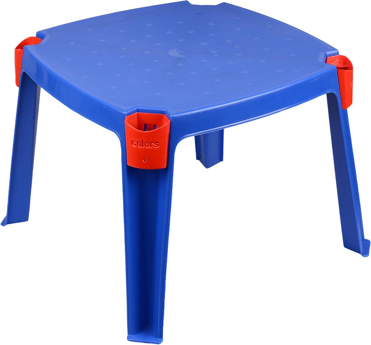 Marian Plast Стол детский с карманами 53 см х 53 см цвет синий364_синУдобный детский столик Marian Plast необходим каждому ребенку. За столиком ребенок может играть, заниматься творчеством. Изделие, изготовленное из прочного, но легкого полимерного материала, оснащено удобными кармашками для хранения различных предметов.Теперь у малыша будет отдельный столик, который идеально подойдет ему по размеру и он сможет приглашать на чаепитие своих друзей, в том числе и плюшевых, а также заниматься творческой работой: рисовать, лепить, раскрашивать.