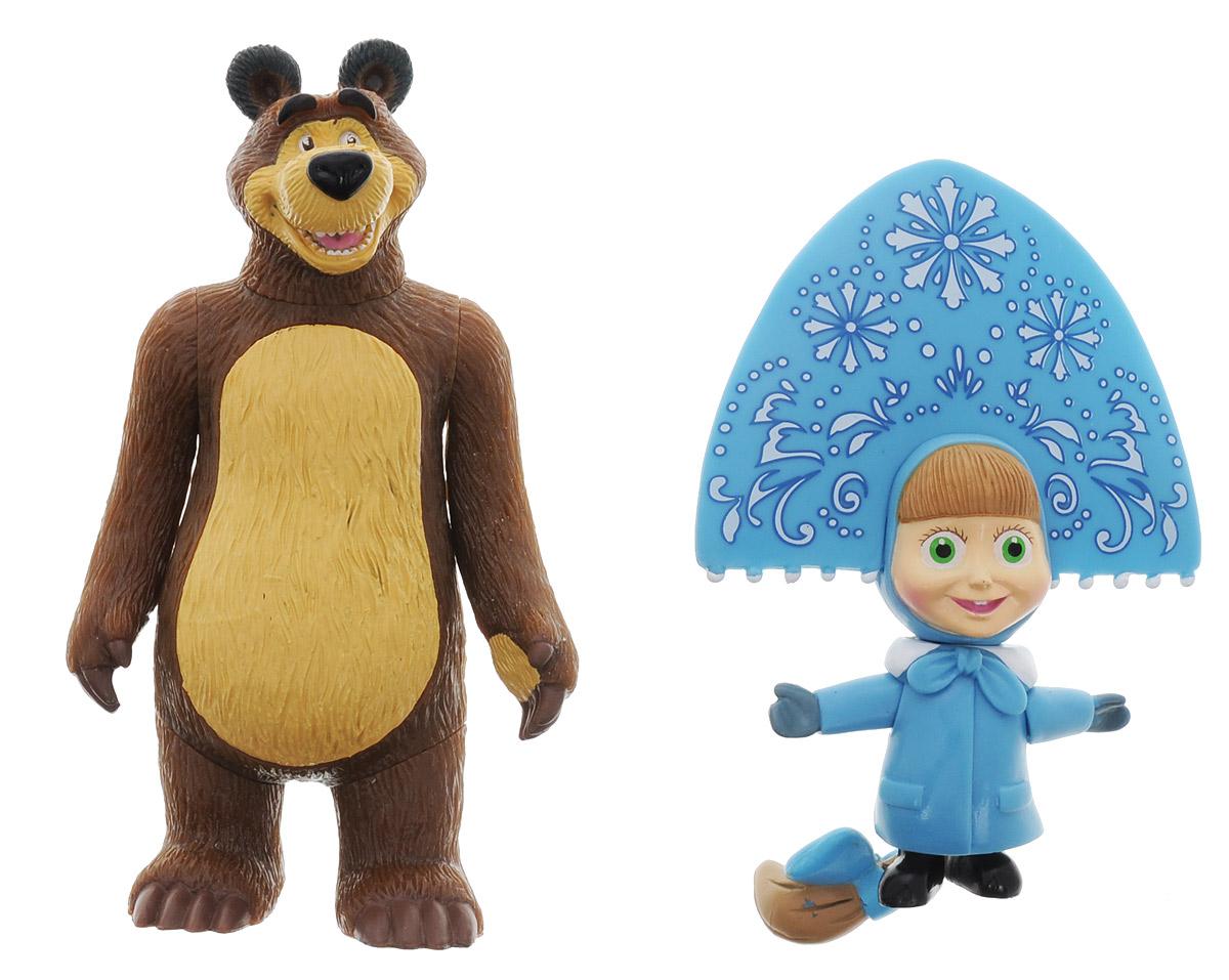 Играем вместе Набор фигурок Маша-Снегурочка и Медведь фигурки игрушки маша и медведь кукла маша