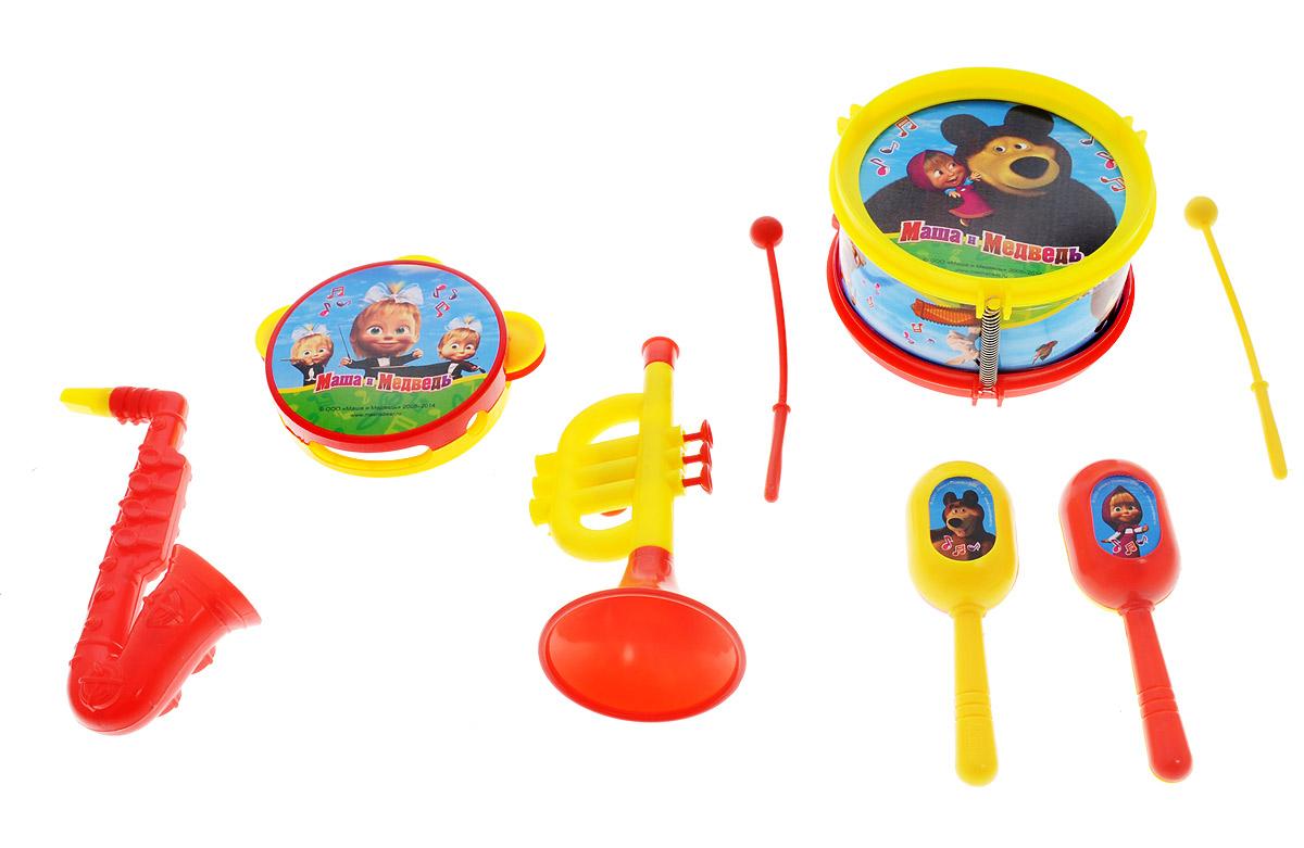 Играем вместе Набор музыкальных инструментов Маша и Медведь 8 предметов набор музыкальных инструментов играем вместе маша и медведь b226345 r2