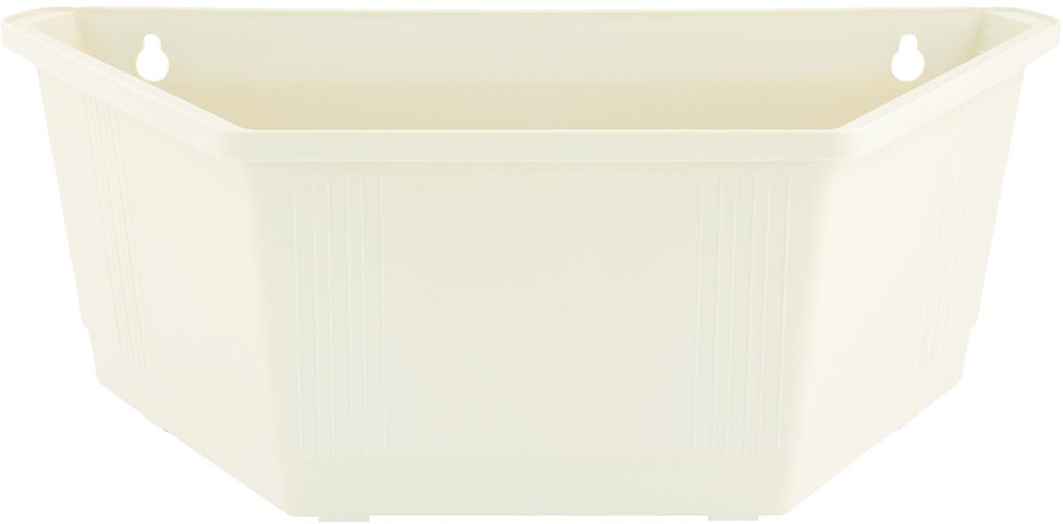 Ящик для цветов InGreen, настенный, 40 х 22 х 15 смING1433БЛЯщик для цветов InGreen, изготовленный из высококачественного пластика, выполнен в форме трапеции. Изделие предусматривает удобные отверстия для крепления на стену.Ящик для цветов InGreen - это прекрасный способ украсить стену, не прибегая к возведению громоздких конструкций. Он подчеркнет красоту и уникальность любого растения и дополнит интерьер помещения.