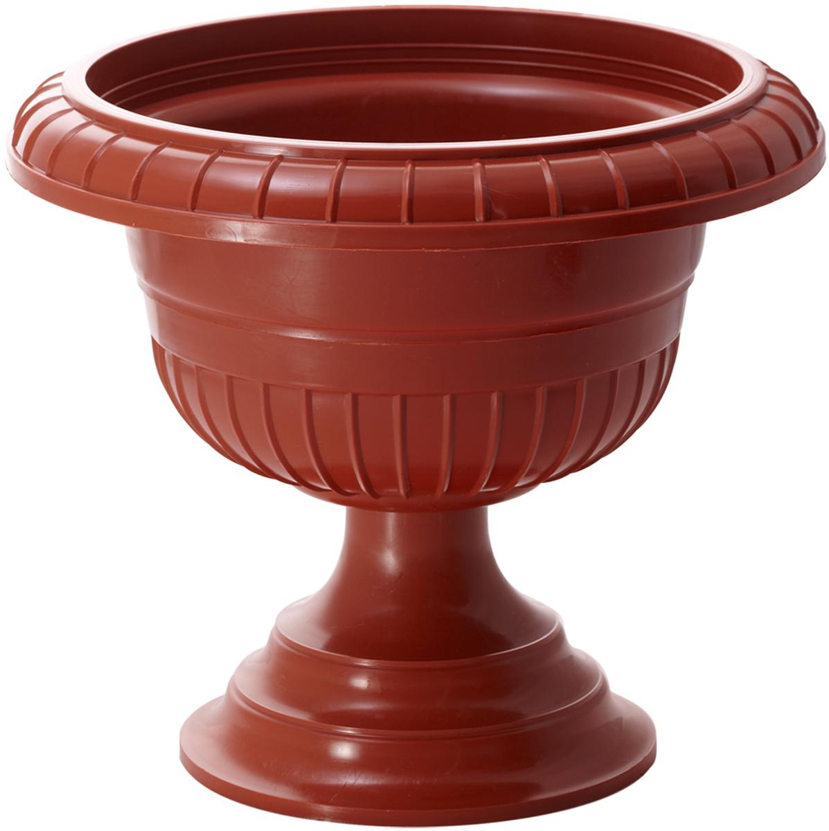 Вазон InGreen, цвет: терракотовый, высота 24,5 см вазон idea ливия цвет белая глина высота 33 см