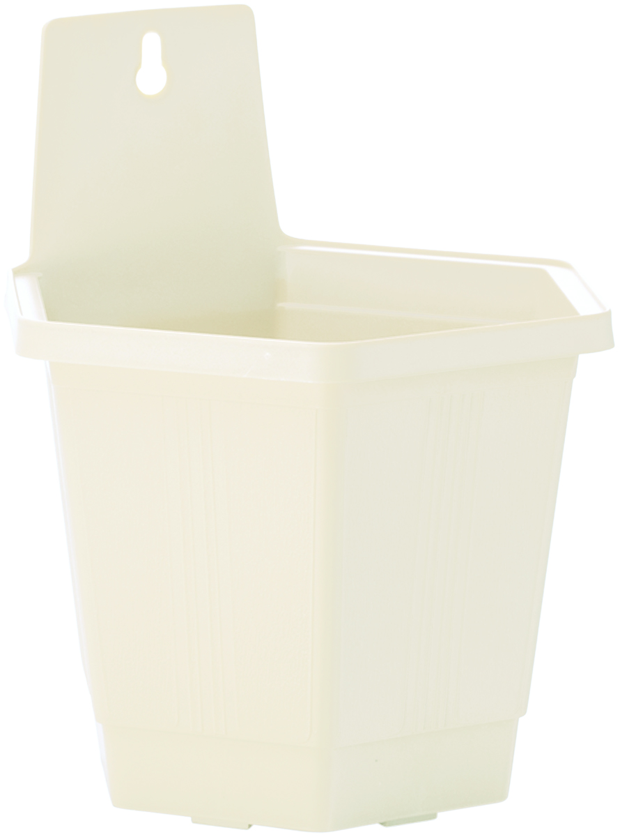 Кашпо настенное InGreen, цвет: белый, 18,5 х 16 х 21,5 смING1498БЛНастенное кашпо InGreen, изготовленное из прочного пластика, прекрасно подходит для выращивания растений и цветов в домашних условиях. Изделие оснащено специальным отверстием для крепления на стену. Стильный лаконичный дизайн впишется в интерьер любого помещения и будет долгие годы радовать глаз.Кашпо InGreen станет неотъемлемым предметом декорадля загородных домов.
