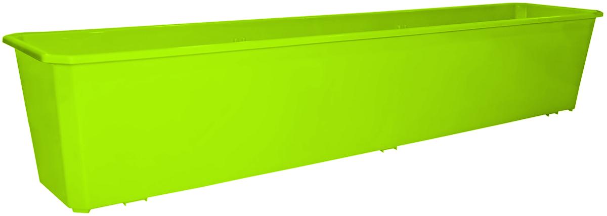 Ящик балконный InGreen, цвет: салатовый, 80 х 17 х 15 см. ING1807СЛING1807СЛБалконный ящик InGreen, изготовленный из высококачественного цветного пластика, предназначен для выращивания цветов и рассады как на балконе, так и в комнатных условиях.