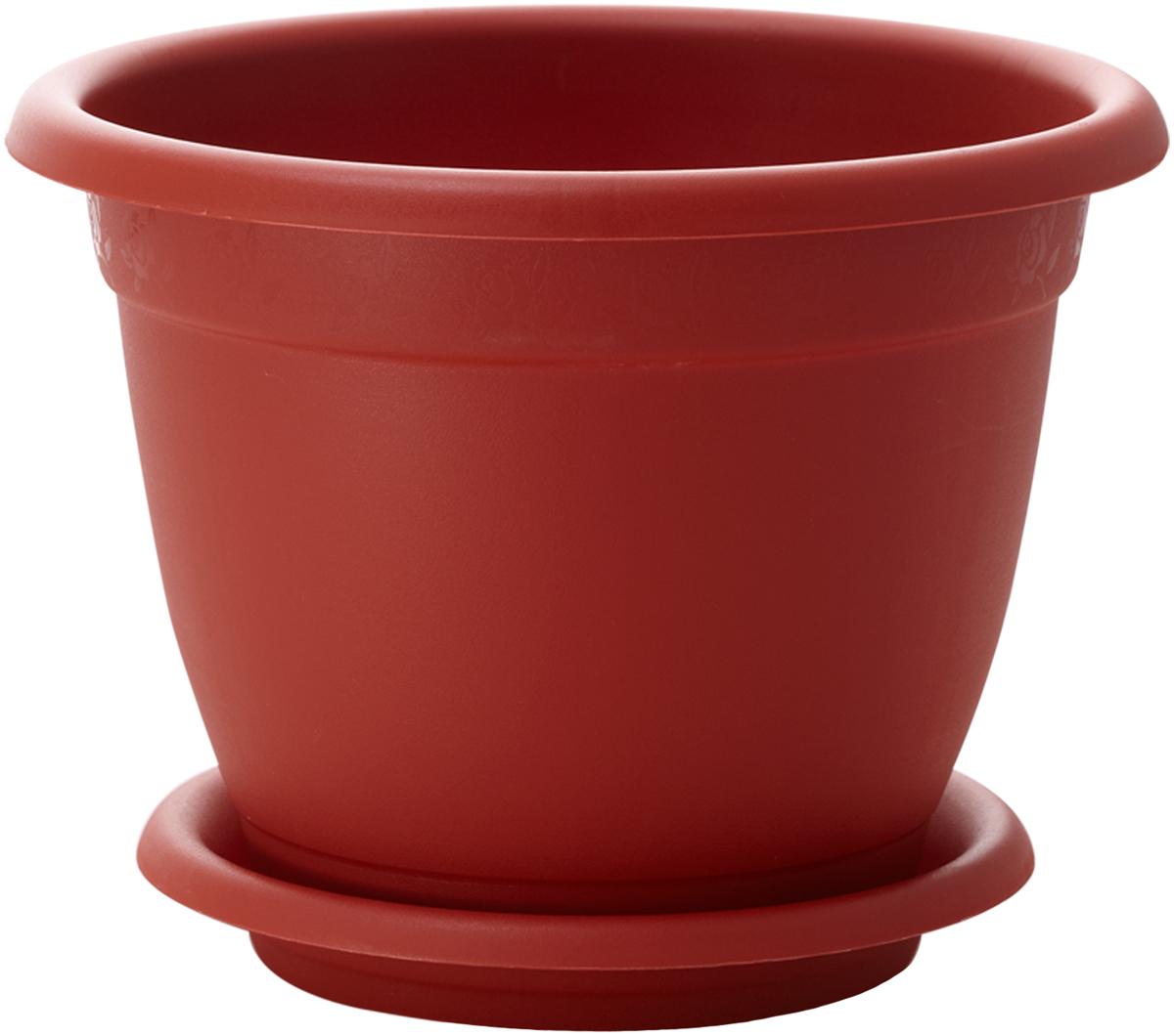 Горшок для цветов InGreen Борнео, с поддоном, цвет: терракотовый, диаметр 17 смING42017FТРГоршок InGreen Борнео, выполненный из высококачественного полипропилена, имеет дренажные отверстия, что способствует выведению лишней влаги из почвы и предотвращает гниение корневой системы растения. К горшку прилагается круглый поддон. Он прочно фиксируется к изделию, благодаря специальной крепежной системе, обеспечивая удобство эксплуатации. Между стенкой горшка и поддоном есть зазор, который позволяет испаряться лишней влаге и дает возможность прикорневого полива растения. Предназначен для выращивания цветов, растений и трав.Такой горшок порадует вас современным дизайном и функциональностью, а также оригинально украсит интерьер помещения.Диаметр горшка: 17 см.Высота горшка: 13,5 см.Диаметр поддона: 13 см.