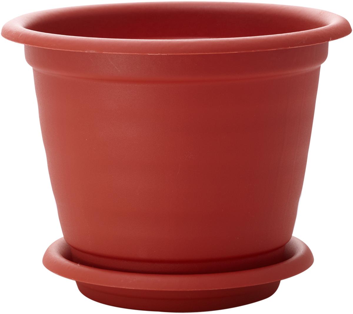Горшок для цветов InGreen Натура, с поддоном, цвет: терракотовый, диаметр 21 смING43021FТРГоршок InGreen Натура, выполненный из высококачественного полипропилена (пластика), предназначен для выращивания комнатных цветов, растений и трав. Специальная конструкция обеспечивает вентиляцию в корневой системе растения, а дренажные отверстия позволяют выходить лишней влаге из почвы. Такой горшок порадует вас современным дизайном и функциональностью, а также оригинально украсит интерьер любого помещения. Диаметр горшка (по верхнему краю): 21 см.Высота горшка: 16,5 см.