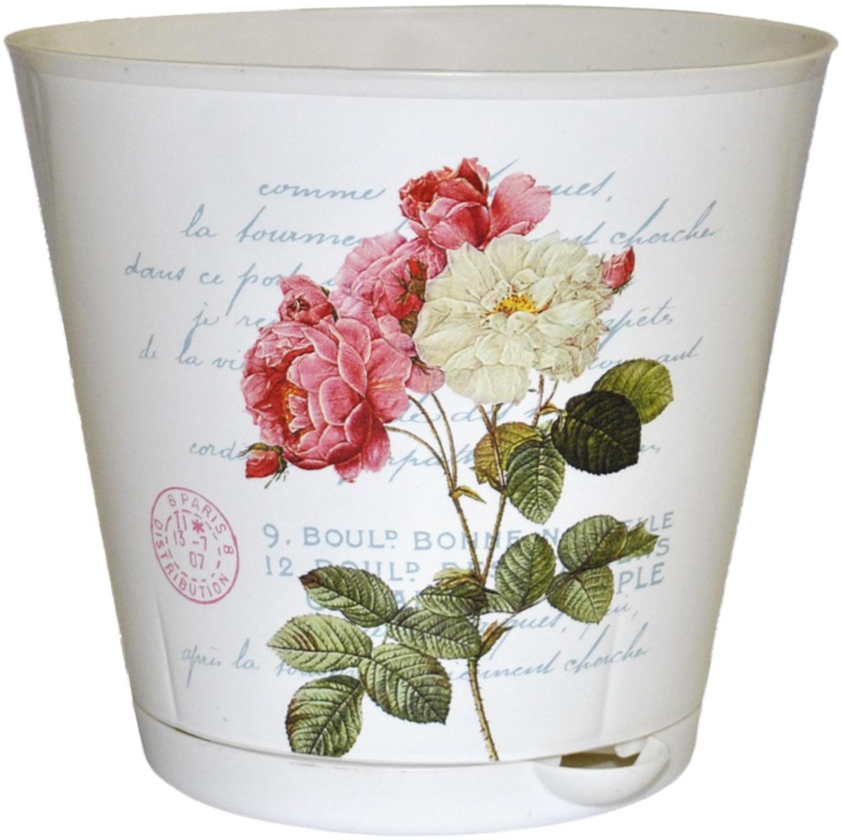 Горшок для цветов InGreen Крит. Прованс, с системой прикорневого полива, диаметр 20 см ingreen горшок для цветов крит d 200 mm с системой прикорневого полива 3 6л белый ирис