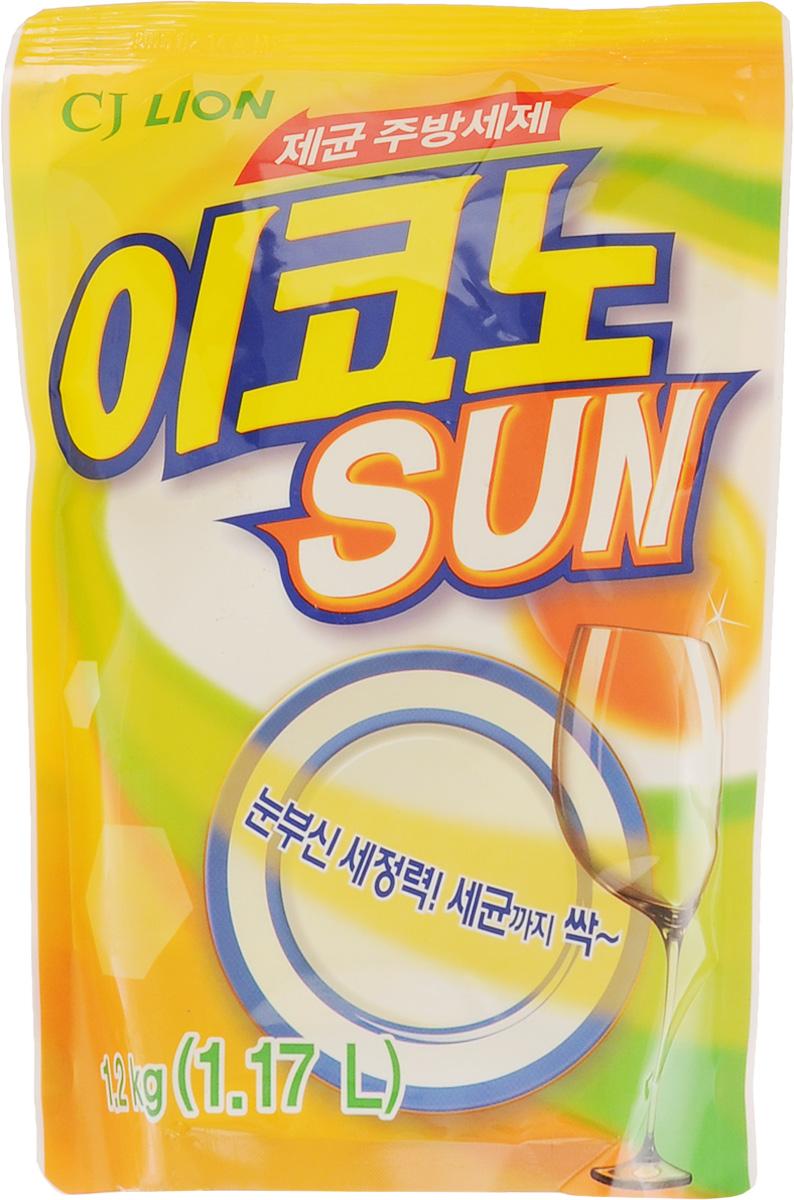 """Средство для мытья посуды, овощей и фруктов Cj Lion """"Kitchen Econo Sun"""", сменный блок, 1,17 л"""