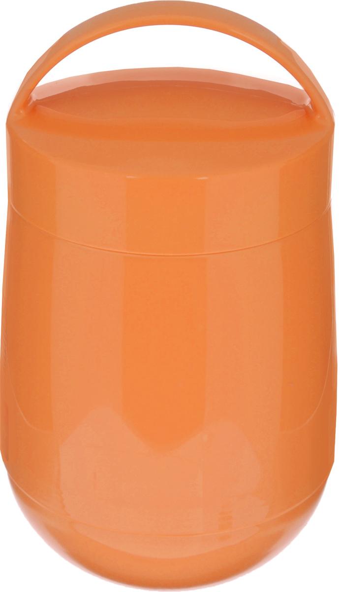 """Термос для продуктов Tescoma """"Family""""  предназначен для хранения и переноски теплых и  холодных блюд. Термос имеет две пластиковые емкости. Продукты  можно хранить непосредственно в стеклянной колбе  либо в пластиковых емкостях,  которые вкладываются в изоляционную колбу.  Особо рекомендуем использовать пластиковые  емкости для продуктов с высоким  содержанием жиров, сахара либо кислот, а также  блюд, которые тяжело отмываются со стенок  стеклянной колбы. Нейтральные  продукты можно хранить непосредственно в  изоляционной колбе. Термос имеет удобную ручку для транспортировки.  Не рекомендуется мыть в посудомоечной машине.  Диаметр малой чаши: 12 см. Высота малой чаши: 4,5 см. Диаметр большой чаши: 12 см. Высота большой чаши: 16,5 см. Диаметр термоса: 11,5 см. Высота термоса без учета крышки: 19,5 см."""