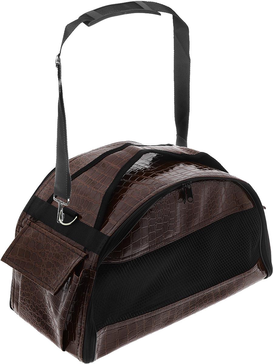 Переноска для животных  Зооник , цвет: коричневый, 40 х 21 х 25 см - Переноски, товары для транспортировки