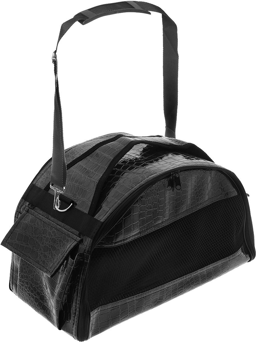 Переноска для животных  Зооник , цвет: черный, 40 х 21 х 25 см - Переноски, товары для транспортировки