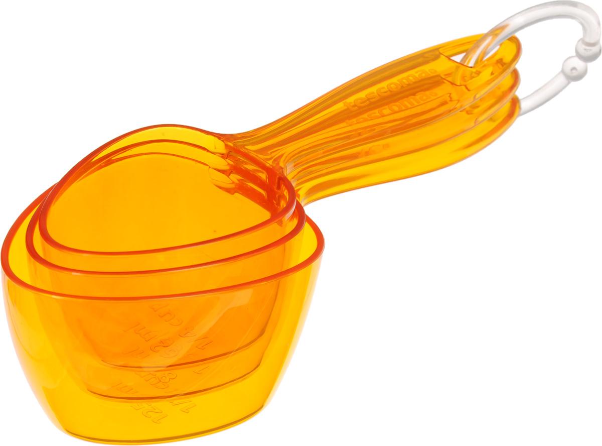 Ложки мерные Tescoma Presto, цвет: оранжевый, 3 шт420734Набор Tescoma Presto состоит из трех мерных ложек разных размеров, изготовленных из ударопрочного пластика. Ложки закреплены на кольце для удобного хранения в подвесном положении. Они прекрасно подходят для точного отмеривания жидкостей и сыпучих продуктов. Можно мыть в посудомоечной машине.Длина ложек: 15 см; 15,5 см; 16,5 см.Объем ложек: 62 мл; 83 мл; 125 мл.