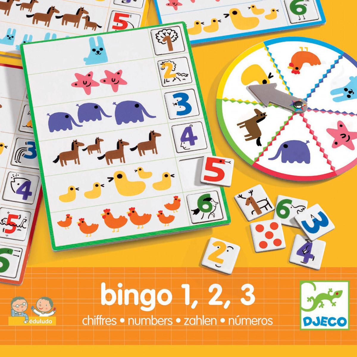 Djeco Обучающая игра Числа Бинго настольные игры djeco игра eduludo числа бинго