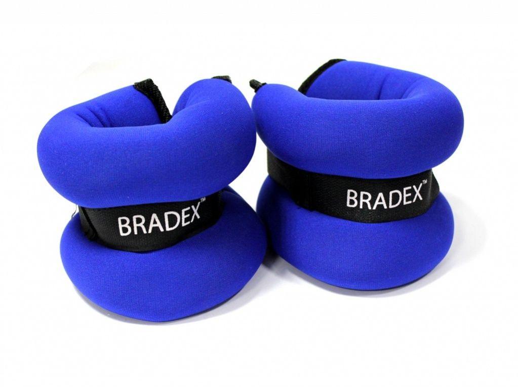 Утяжелитель Bradex  Геракл Экстра , цвет: синий, 2 кг, 2 шт. SF 0103 - Фитнес