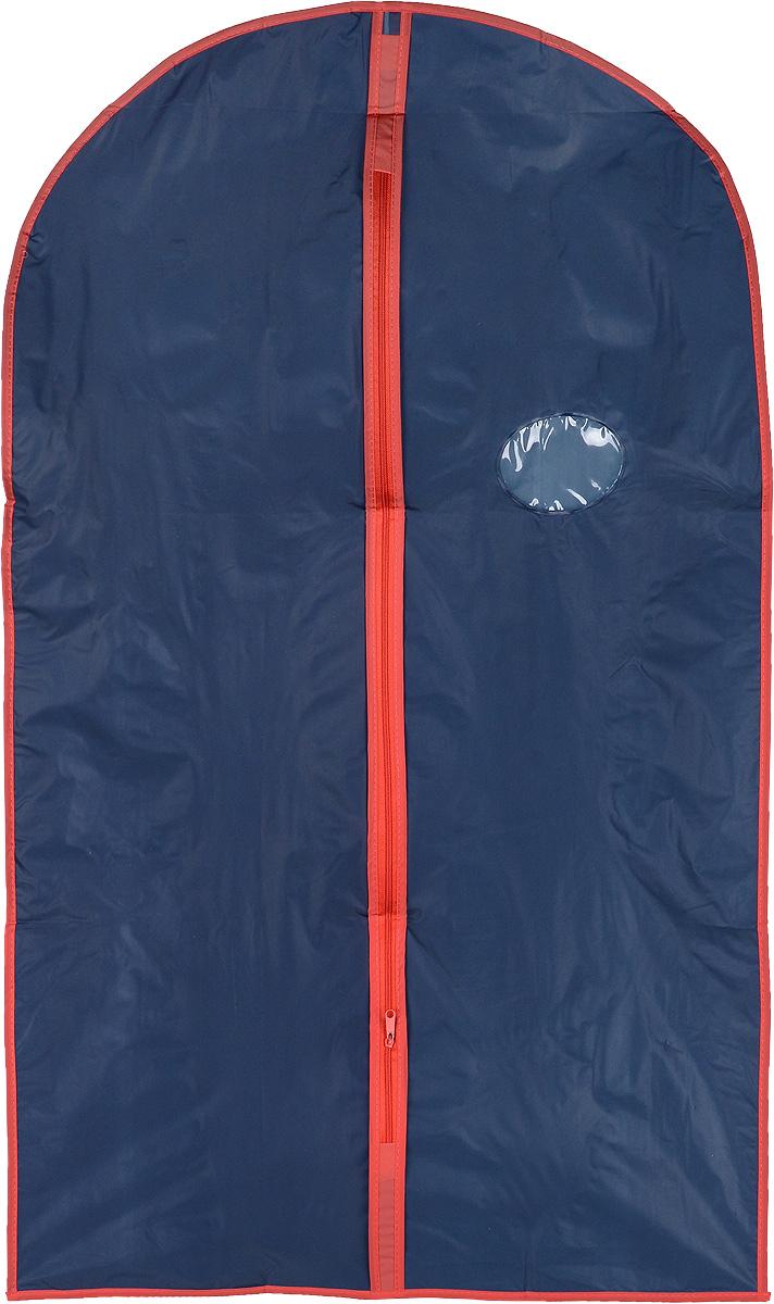 Чехол для одежды Home Queen, 60 х 100 см53342Чехол для одежды Home Queen изготовлен из прочной непромокаемой ткани - полиэтиленвинилацетата. Чехол защитит одежду от влаги, пыли и грязи, механических воздействий и насекомых при хранении и транспортировке. Овальное прозрачное окошко позволяет видеть, какая одежда находится внутри. Чехол закрывается на удобную застежку-молнию.