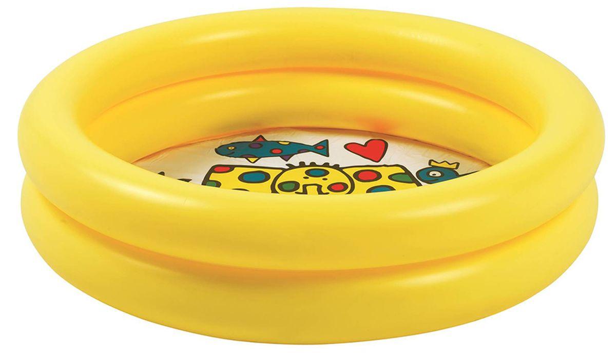 Бассейн надувной Jilong Circular Kiddy Pool, цвет: желтый, 76 х 20 см, 1-3 года комплект n 4 2 ползунка высокие на кнопках зоопарк голубой kiddy bird