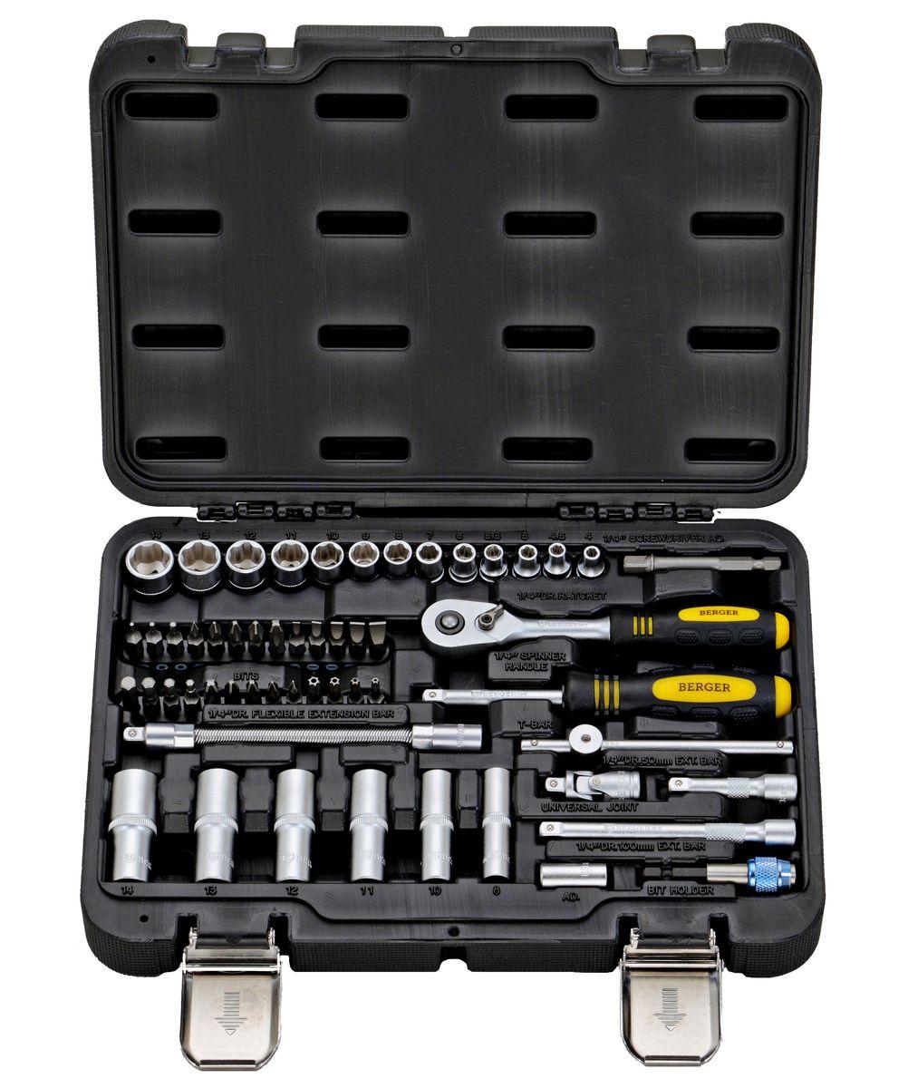 Универсальный набор инструментов Berger, 55 предметов. BG055-14 berger bg055 14