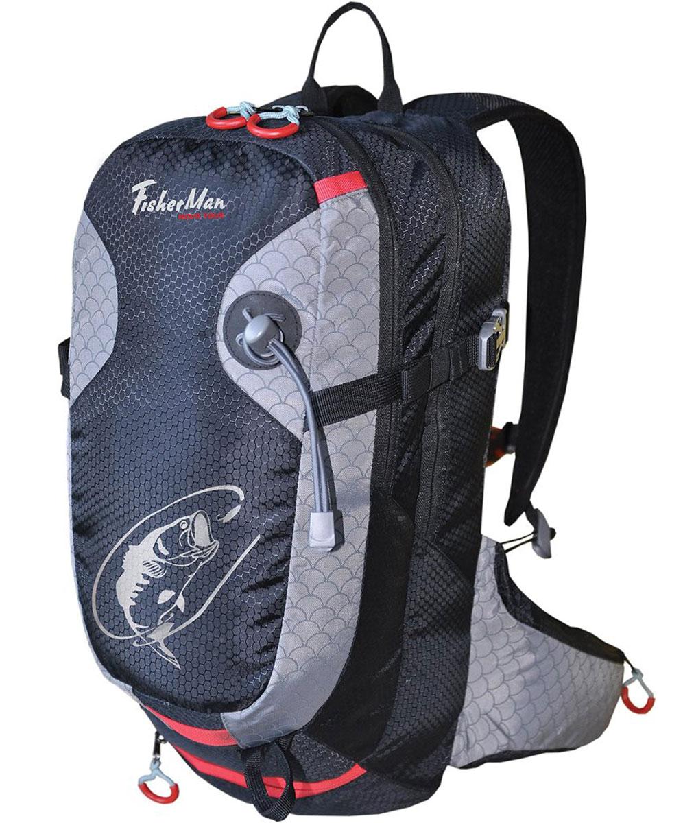 Рюкзак для рыбалки Nova Tour Дартер PRO, цвет: черный, 15 л