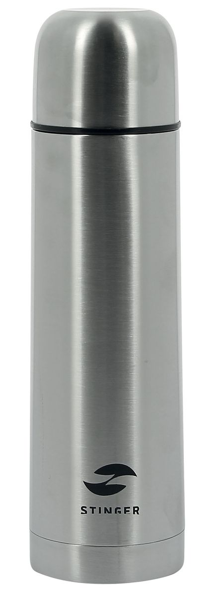 Термос Stinger, 500 млHY-VF102-1Термос Stinger изготовлен из высококачественной нержавеющей стали с матовой полировкой. Двойная колба из нержавеющей стали сохраняет напитки горячими или холодными до 24 часов, после 24 часов температура наполнения сохраняется на отметке 43°C. Термос еще удобен и тем, что нет необходимости полностью откручивать пробку. Чтобы налить напиток, просто нажмите кнопку. Крышку можно использовать в качестве кружки, ее внутренняя поверхность имеет отделку пластиком, гигиенична и легка в очистке.Удобный, компактный и практичный термос пригодится в путешествии, походе и поездке. Диаметр горлышка: 4,5 см. Диаметр основания термоса: 6,5 см. Высота термоса: 25 см.