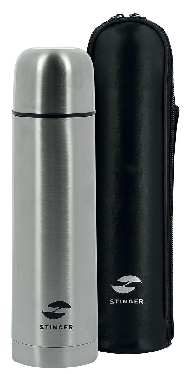 Термос Stinger, узкий, с чехлом, 1 л. HY-VF102-5 термос stinger 1 л узкий сталь серебристый