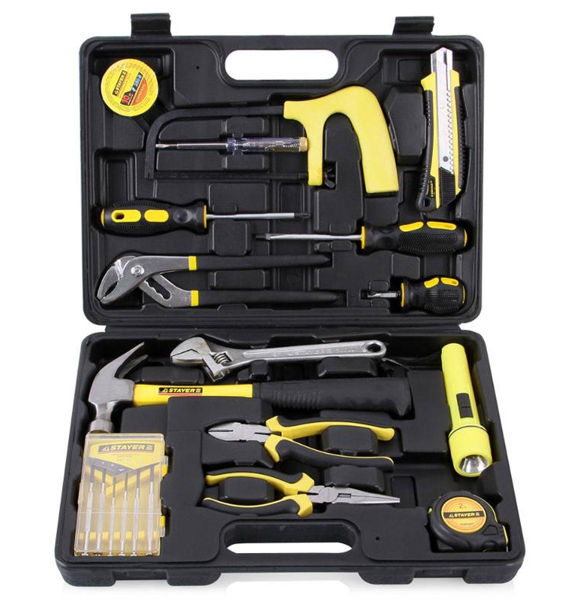 Набор инструментов Stayer Standard Механик для ремонтных работ, 15 предметов набор инструментов stayer standard 12 предметов 27752 h12