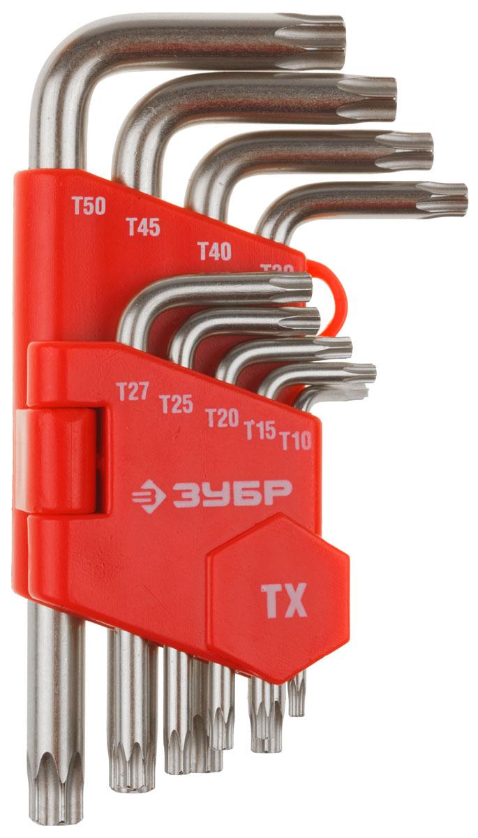 Набор имбусовых ключей Зубр Мастер, TORX Т10-Т50, 9 шт27462-1_z02Набор Зубр Мастер предназначен для работы с крепежными элементами с внутренним профилем TORX. Зачастую используется в автомастерских, при сборке мебели, при проведении монтажных работ. Имбусовые ключи Зубр Мастер способны выдерживать высокие нагрузки. Многоступенчатая обработка обеспечивает точную посадку ключа в крепеже.Набор состоит из 9 коротких ключей. Размеры TORX: T10, T15, T20, T25, T27, T30, T40, T45, T50. Материал изготовления – хромованадиевоя сталь.Покрытие – сатинирование.В комплект входит пластиковый держатель для удобного хранения ключей.